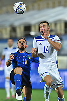 Alessandro Florenzi of Italy and Armin Hodzic of Bosnia during the Uefa Nation League Group Stage A1 football match between Italy and Bosnia at Artemio Franchi Stadium in Firenze (Italy), September, 4, 2020. Photo Massimo Insabato / Insidefoto