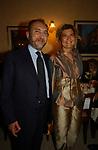 """ANTONIO D'ALI CON LA MOGLIE ANTONIA POSTORIVO<br /> 75° COMPLEANNO DI LINO JANNUZZI - """"DA FORTUNATO AL PANTHEON"""" ROMA 2003"""