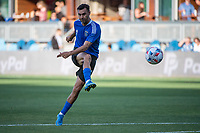 SAN JOSE, CA - JULY 24: Chris Wondolowski #8 of the San Jose Earthquakes warms up before a game between San Jose Earthquakes and Houston Dynamo at PayPal Park on July 24, 2021 in San Jose, California.