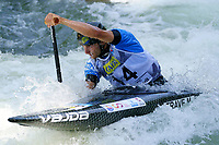 5th September 2021; Parc Olimpic del Segre, La Seu D'Urgell ICF Slalom World Cup, Men's Canoe Final;  winner of the final, Miquel Trave (ESP