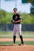 Pittsburgh Pirates pitcher Cody Bolton (49) during a Minor League Spring Training game against the Philadelphia Phillies on March 23, 2018 at the Carpenter Complex in Clearwater, Florida.  (Mike Janes/Four Seam Images)