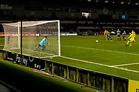 2nd February 2021; St Mirren Park, Paisley, Renfrewshire, Scotland; Scottish Premiership Football, St Mirren versus Hibernian; Martin Boyle of Hibernian scores the teams second goal from the penalty spot in minute 71