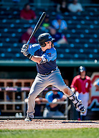 18 July 2018: Trenton Thunder infielder Billy Fleming in action against the New Hampshire Fisher Cats at Northeast Delta Dental Stadium in Manchester, NH. The Fisher Cats defeated the Thunder 3-2 in a 7-inning, second game of the day. Mandatory Credit: Ed Wolfstein Photo *** RAW (NEF) Image File Available ***