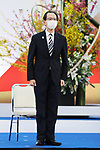 Masao Uchibori participates in <br /> The Grand Start Ceremony for the Tokyo 2020 Olympic Torch Relay at Fukushima National Training Center J-Village on March 25, 2021, in Fukushima Prefecture, Japan.<br /> The Torch Relay will last 121 days and visit all of Japan's 47 prefectures. (Photo by Naoki Morita/AFLO SPORT)