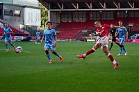 12th September 2020; Ashton Gate Stadium, Bristol, England; English Football League Championship Football, Bristol City versus Coventry City; Alfie Mawson of Bristol City takes a late shot at goal