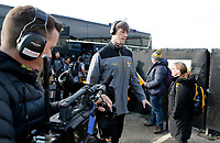 Photo: Richard Lane/Richard Lane Photography. Worcester Warriors v Wasps. Gallagher Premiership. 03/02/2019. Wasps' James Gaskell prepares for his 100th appearance.