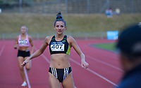 Camryn Smart wins the elite women's 400m. 2021 Capital Classic athletics at Newtown Park in Wellington, New Zealand on Saturday, 20 February 2021. Photo: Dave Lintott / lintottphoto.co.nz