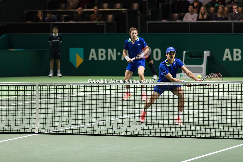 ABN AMRO World Tennis Tournament, Rotterdam, The Netherlands, 18 Februari, 2017, Nicolas Mahut (FRA), Pierre-Hugues Herbert (FRA)<br /> Photo: Henk Koster
