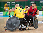 Patrice Simard, Rio 2016 - Wheelchair Rugby // Rugby En Fauteuil roulant.<br /> Canada vs. Australia in Wheelchair Rugby Mixed - Pool Phase Group A, Match 12 // Le Canada affronte l'Australie en Rugby en fauteuil roulant mixte - Phase de poule, groupe A, match 12. 16/09/2016.