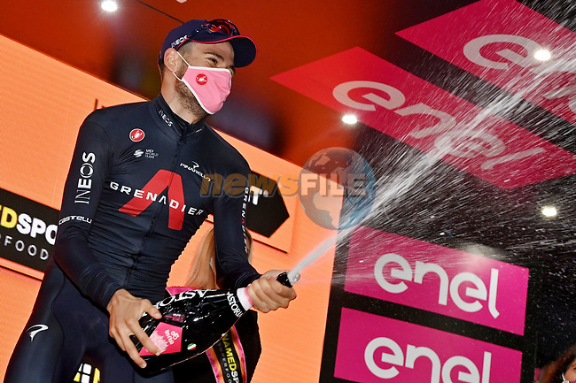 Filippo Ganna (ITA) Ineos Grenadiers wins Stage 5 of the 103rd edition of the Giro d'Italia 2020 running 225km from Mileto to Camigliatello Silano, Sicily, Italy. 7th October 2020.  <br /> Picture: LaPresse/Gian Mattia D'Alberto   Cyclefile<br /> <br /> All photos usage must carry mandatory copyright credit (© Cyclefile   LaPresse/Gian Mattia D'Alberto)