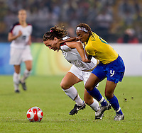 Lauren Cheney, Ester. The USWNT defeated Brazil, 1-0, to win the gold medal during the 2008 Beijing Olympics at Workers' Stadium in Beijing, China.