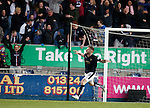 Bob McHugh celebrates his winner for Falkirk