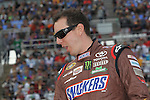 Sprint Cup Series driver Kyle Busch (18) in action before the NASCAR Sprint Cup Series AAA 500 race at Texas Motor Speedway in Fort Worth,Texas.