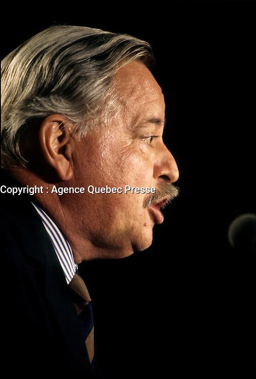 Montreal (Qc) CANADA,July 1994, File Photo <br /> <br /> Parti Quebecois  Leader Jacques Parizeau <br /> <br /> Photo by Pierre Roussel / Images Distribution