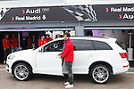 Real Madrid player Sami Khedira participates and receives new Audi during the presentation of Real Madrid's new cars made by Audi at the Jarama racetrack on November 8, 2012 in Madrid, Spain.(ALTERPHOTOS/Harry S. Stamper)