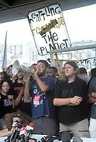 - manifestations against the international G8 summit in Genoa, July 2001, Francesco Caruso and Luca Casarini, No Global leaders....- manifestazioni contro il summit internazionale G8 a Genova nel luglio 2001, Francesco Caruso e Luca Casarini, leaders No Global