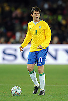 Kaka of Brazil. Brazil defeated South Africa 1-0 during the semi-finals of the FIFA Confederations Cup at Ellis Park Stadium in Johannesburg, South Africa on June 25, 2009..