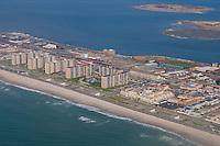 Aerial view of Jamaica bay Ocean promenade in Queens, NY