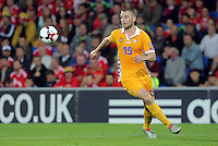 Adrian Gascaval of Moldova during the 2018 FIFA World Cup Qualifier between Wales and Moldova at the Cardiff City Stadium on September 5, 2016 in Cardiff, Wales.