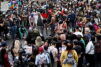 BOGOTA, COLOMBIA - JUL 04: People take part on the LGBTIQ pride parade on July 04, 2021 in Bogota, Colombia. The parade is a protest against violence suffered by the LGBTIQ community in Colombia. (Photo by Leonardo Munoz/VIEWpress)