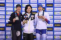 SPEEDSKATING: SALT LAKE CITY: Utah Olympic Oval, 10-03-2019, ISU World Cup Finals, Podium 1500m Ladies, Brittany Bowe (USA), Miho Takagi (JPN), Yekaterina Shikhova (RUS), ©Martin de Jong