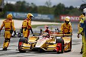 2017 Verizon IndyCar Series<br /> Honda Indy Grand Prix of Alabama<br /> Barber Motorsports Park, Birmingham, AL USA<br /> Sunday 23 April 2017<br /> Ryan Hunter-Reay, Andretti Autosport Honda, pit stop<br /> World Copyright: Michael L. Levitt<br /> LAT Images<br /> ref: Digital Image levitt-0417-bmp_06631