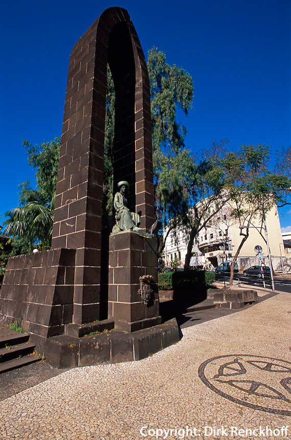 Denkmal Heinrich der Seefaherer in Funchal, Madeira, Portugal