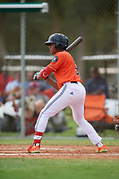 Samuel Infante (8) during the WWBA World Championship at the Roger Dean Complex on October 12, 2019 in Jupiter, Florida.  Samuel Infante attends Monsignor Edward Pace High School in Hialeah, FL and is committed to Miami.  (Mike Janes/Four Seam Images)