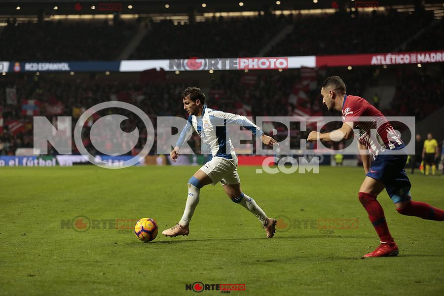 RCD Espanyol's Pablo Daniel Piatti during La Liga match between Atletico de Madrid and RCD Espanyol at Wanda Metropolitano Stadium in Madrid, Spain. December 22, 2018. (ALTERPHOTOS/A. Perez Meca) /NortEPhoto.com