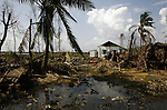 A damaged house from Cyclone Nargis  at the village of Kamingo in Irrawaddy Division, May 10, 2008. Despairing survivors in Myanmar awaited emergency relief on Friday, a week after 100,000 people were feared killed as the cyclone roared across the farms and villages of the low-lying Irrawaddy delta region. The storm is the most devastating one to hit Asia since 1991, when 143,000 people were killed in neighboring Bangladesh. Photo by Eyal Warshavsky  *** Local Caption *** ëì äæëåéåú ùîåøåú ìàéì åøùáñ÷é àéï ìòùåú áúîåðåú ùéîåù ììà àéùåø