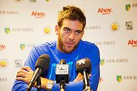 10-02-13, Tennis, Rotterdam,Press conference with DelPotro