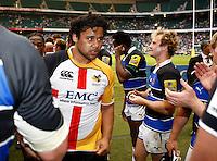 Photo: Richard Lane/Richard Lane Photography. London Wasps v Bath Rugby. Aviva Premiership. St George's Day  Game. 23/04/2011. Wasps' Billy Vunipola.