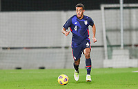 WIENER NEUSTADT, AUSTRIA - NOVEMBER 16: Tyler Adams #4 of the United States moves with the ball during a game between Panama and USMNT at Stadion Wiener Neustadt on November 16, 2020 in Wiener Neustadt, Austria.