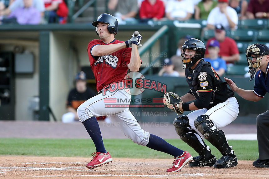 July 1st 2008:  Jon Knott of the Lehigh Valley IronPigs, Class-AAA affiliate of the Philadelphia Phillies, during a game at Frontier Field in Rochester, NY.  Photo by:  Mike Janes/Four Seam Images