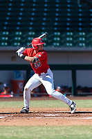 Arizona Wildcats shortstop Cameron Cannon (35) during an NCAA exhibition game against Cal State Fullerton at Sloan Park on October 28, 2018 in Mesa, Arizona. (Zachary Lucy/Four Seam Images)