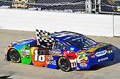 Monster Energy NASCAR Cup Series<br /> Apache Warrior 400<br /> Dover International Speedway, Dover, DE USA<br /> Sunday 1 October 2017<br /> Kyle Busch, Joe Gibbs Racing, M&M's Caramel Toyota Camry celebrates his win<br /> World Copyright: Nigel Kinrade<br /> LAT Images