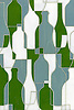 Bottles, a glass waterjet mosaic shown in Verdite, Serpentine and Moonstone, is part of the Erin Adams Collection for New Ravenna.