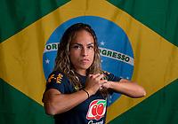 Kansas City, KS - July 24, 2018: Brazil Flag Portraits