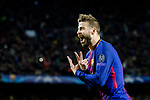 Gerard Pique Bernabeu of FC Barcelona celebrates after scoring his goal during the UEFA Champions League 2017-18 quarter-finals (1st leg) match between FC Barcelona and AS Roma at Camp Nou on 05 April 2018 in Barcelona, Spain. Photo by Vicens Gimenez / Power Sport Images