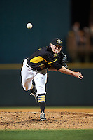Bradenton Marauders relief pitcher Nick Neumann (22) delivers a pitch during a game against the Lakeland Flying Tigers on April 16, 2016 at McKechnie Field in Bradenton, Florida.  Lakeland defeated Bradenton 7-4.  (Mike Janes/Four Seam Images)