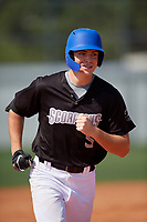 Sean Sparling (5) rounds the bases after hitting a home run during the WWBA World Championship at Terry Park on October 8, 2020 in Fort Myers, Florida.  Sean Sparling, a resident of Palm Coast, Florida who attends Matanzas High School, is committed to Daytona State College.  (Mike Janes/Four Seam Images)