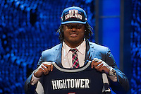 The 25th overall pick  linebacker Dont'a Hightower (Alabama) to the New England Patriots during the first round of the 2012 NFL Draft at Radio City Music Hall in New York, NY, on April 26, 2012.