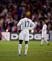 Jozy Altidore. The USMNT tied Costa Rica, 2-2, during the FIFA World Cup Qualifier at  RFK Stadium, in Washington, DC.   With the result, the USMNT qualified for the 2010 FIFA World Cup Finals in South Africa.