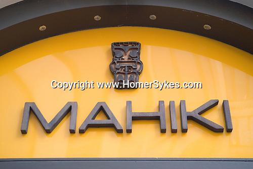 Mahiki Night Club, Dover Street, London W1.