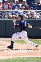July 25, 2010: Everett AquaSox's Robert Anston (3) at-bat during a Northwest League game against the Salem-Keizer Volcanoes at Everett Memorial Stadium in Everett, Washington.