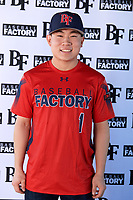 Sean Lee (1) of Chatham High School in Chatham, New Jersey during the Baseball Factory All-America Pre-Season Tournament, powered by Under Armour, on January 12, 2018 at Sloan Park Complex in Mesa, Arizona.  (Mike Janes/Four Seam Images)