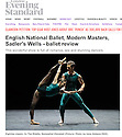 English National Ballet, Modern Masters, Sadler's Wells, Evening Standard 11.03.15