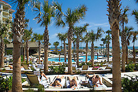 Sun bathers relax at the Ritz-Carlton in Amelia Island, FL