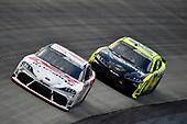 #20: Harrison Burton, Joe Gibbs Racing, Toyota Supra Fields/DEX Imaging and #19: Brandon Jones, Joe Gibbs Racing, Toyota Supra Menards/Pelonis