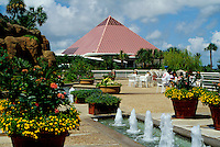 The Discovery Pyramid in Moody Gardens, an educational and recreational center. Galveston, Texas.